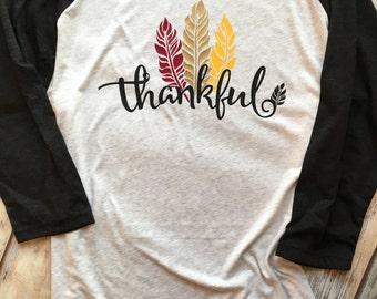 Thankful Feathers Raglan