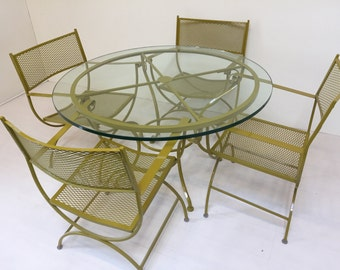 Restored Vintage Patio Set with Table and 4 Chairs