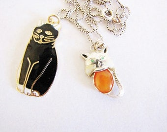 Black Cat Pendant Cat Charm Kitty Pendant Dainty Layering Necklaces Everyday Necklace Cat Lover Gifts Sister Aunt Mom Gifts For Her