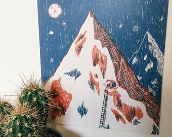 Mountains Print