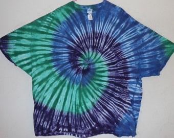 Adult 5X T-Shirt, Blues/Greens/Purples (D)