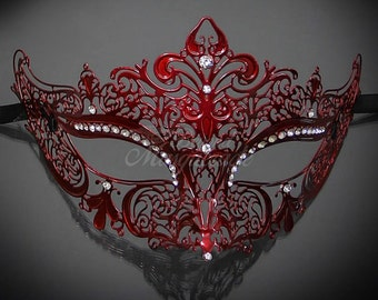 Masquerade Mask, Red Mask, Mask, Masquerade Ball, Masquerade Ball Mask, Red Masquerade Mask, Red Masks, Red Themed, Red Face Mask