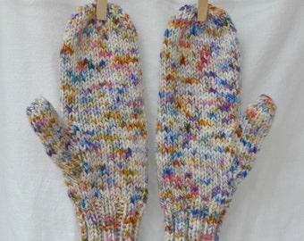 STARDUST Handdyed Handknit Mittens – bulky merino
