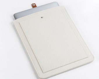 MacBook Air 13 Sleeve –MacBook Air Case – Macbook Cover - MacBook 13 Leather - Laptop Felt Leather Case