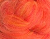 Merino-Silk Wool Roving / Combed Top / Wool in Sicilian Oranges - 4 ounces