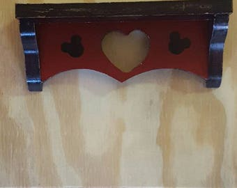 Wooden mickey red and black shelf