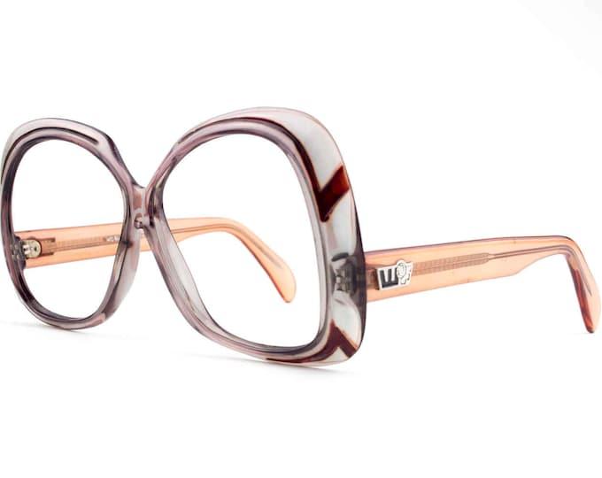 70s Vintage Eyeglass Frame   Grey Clear Glasses   NOS 1970s Eyeglasses   Oversized Glasses   Deadstock Eyewear - WOF1030-4