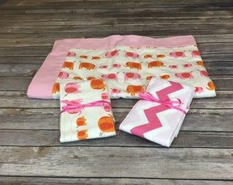 Baby Gift Set - Pink Elephants