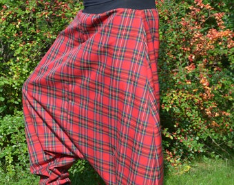 Harem pants red checkered harem pants harem pants yoga pants