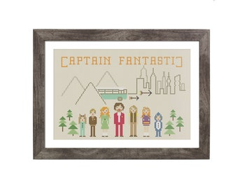 BUY 2 patterns and GET 1 FREE -- Captain Fantastic Crossstitch Pattern