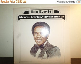 Save 30% Today Vintage 1977 Vinyl LP Record When You Hear Lou, You've Heard It All Lou Rawls Very Good Condition 9119