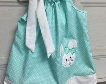 Easter bunny pillowcase dress