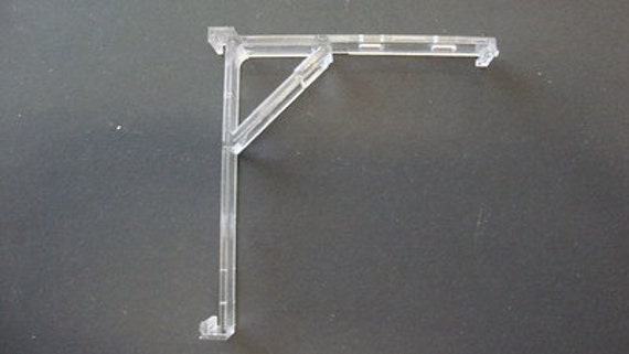 Qty clear vertical blind bracket w built in valance