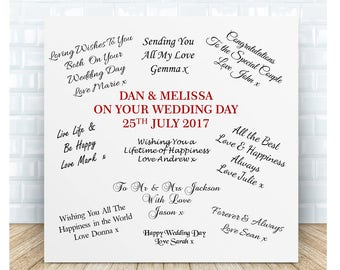 Your Wedding Guestbook Personalised Ceramic Plaque