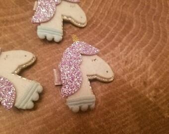 Unicorn hair bow. Unicorn hair clip. Unicorn accessories. Glitter unicorn headband