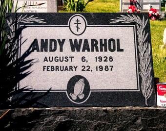 Pop Artist Andy Warhol's Grave NCC022630