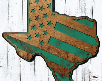 Texas Sign Texas Wall Art Texas Decor Custom State Sign Lone Star State  Texas Wall Decor Texas Gift Large Texas Decor Handmade Sign