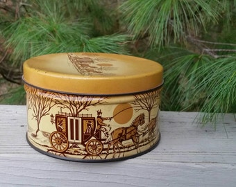 Vintage 1960s CASHEW BUTTER CRUNCH Tin E. Cherry and Sons Philadelphia
