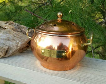 Vintage Copper & Brass POTPOURRI Holder