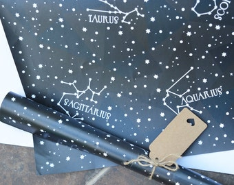 Constellations A2 gift wrap.