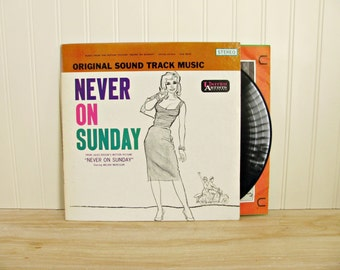 Vintage Album Never On Sunday Original Soundtrack Album Movie Soundtrack Movie Music 1960's Music Greece Greek Music Melina Mercouri