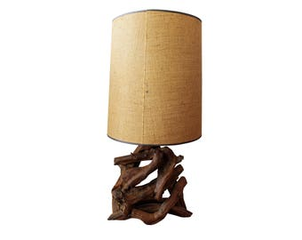 Mid-Century Danish Modern Free Form Driftwood Table Lamp