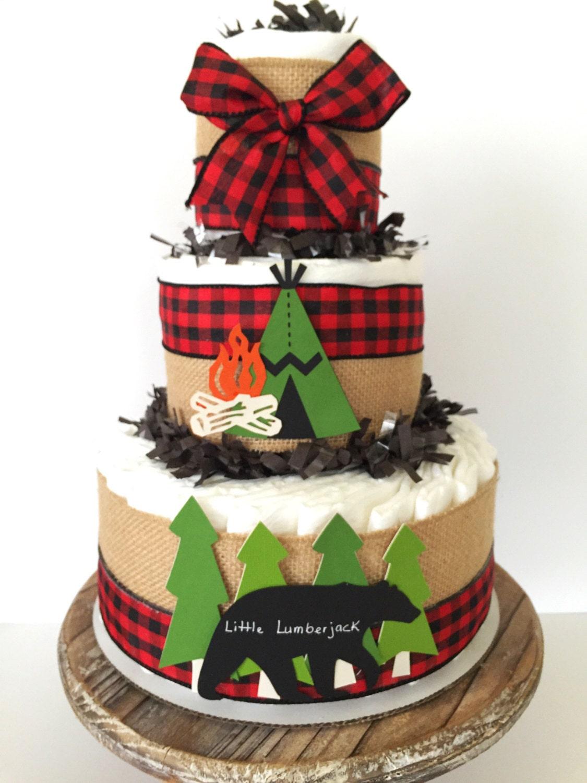 Little Lumberjack Diaper Cake Cabin Fever Baby Shower