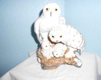 Danbury Mint Snowy Owls