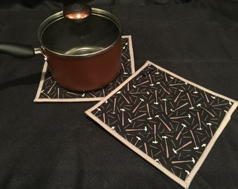 Tools Quilted, Insulated Pot Holder Set