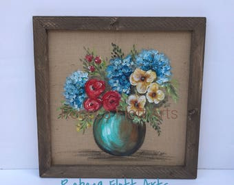 Bright flowers in burlap,Earth laughs in flowers. ~Ralph Waldo Emerson