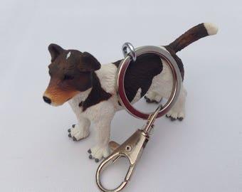 Jack Russell keyring keychain  bag charm