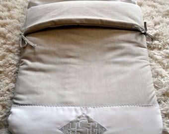 Linen Angel's Nest -Baby sleeping bag- Sleep sack -Baby cocoon- Baby blanket- Pram/stroller blanket - Baby Boy bedding-Made in Austin, TX