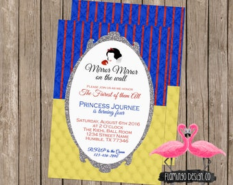Snow White Inspired Birthday Invitation (digital & card stock)