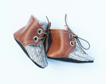 Woven Petite Combat Boots