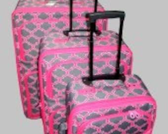 Three piece Luggage Set.  Quadrofoil Print