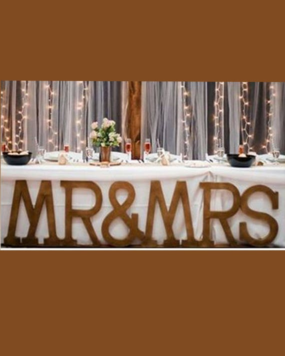 wedding decor wood letters large letters mr mrs With mr and mrs large wooden letters