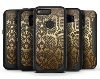 Dark Gold Flaked Animal v4 - OtterBox Case Skin-Kit for the iPhone, Galaxy & More