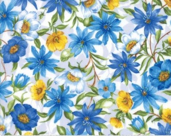 SUMMER BREEZE IV~Spring Garden~Natural~ Cotton Fabric  by Moda 33280-11, Fast Shipping F754