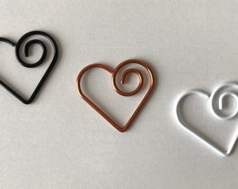 SALE Small Heart Paper Clips