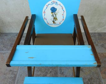 Holly Hobbie High Chair, Toy Highchair, American Greetings, Holly Hobbie Collectible
