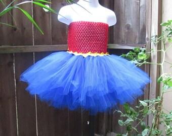 Red yellow blue tutu dress