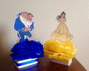 beauty and the beast centerpieces, beauty and the beast party, beauty and the beast decorations, birthday party decorations, birthday party