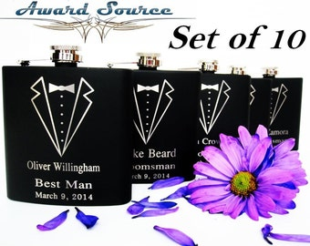 Flask, Black Flask, Personalized Flask, Groomsmen Flask, Engraved Flask, Hip Flask, Custom Flask, Mens Flask, Best Gift To Him, Mens Gift