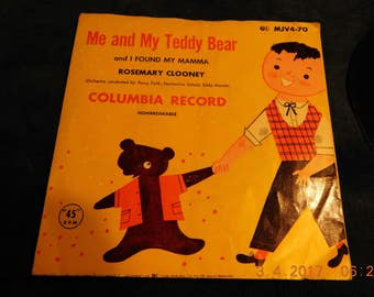 Vintage Me and My Teddy Bear 45 RPM