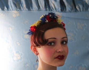 20s / 30s rayon & silk floral crown