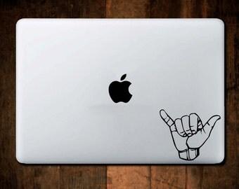 Hang Loose Decal, Shaka Decal, Laptop Decal, Macbook Decal
