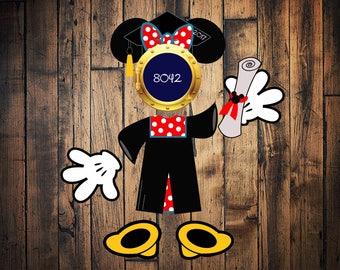 Graduation Minnie Disney Cruise Porthole Magnet