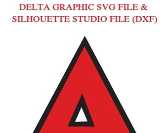 Delta Greek Letter File for Cutting Machines | SVG and Silhouette Studio
