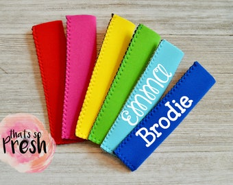 Personalized Freezie holder Loot Bag Gifts Popsicle Holder