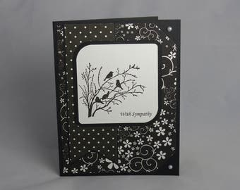 Stampin Up Handmade Sympathy Greeting Card: Condolence Card, Thinking of You, Funeral, Masculine, Serene Silhouettes, Condolences, Grief